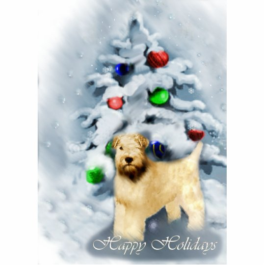 Soft Coated Wheaten Terrier Christmas Cutout