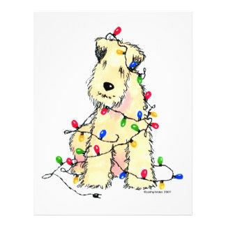 Soft Coated Wheaten Terrier - Christmas Flyer Design