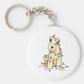 Soft Coated Wheaten Terrier - Christmas Keychain