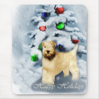 Soft Coated Wheaten Terrier Christmas Mouse Pad