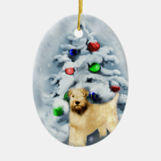 Soft Coated Wheaten Terrier Christmas Ornament
