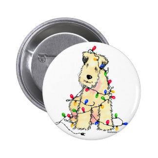 Soft Coated Wheaten Terrier - Christmas Pinback Button