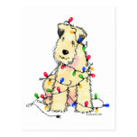 Soft Coated Wheaten Terrier - Christmas Postcard