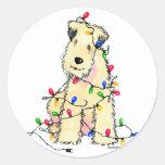 Soft Coated Wheaten Terrier - Christmas Sticker