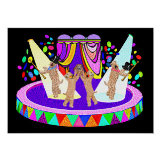 SOFT COATED WHEATEN TERRIER CIRCUS POSTER