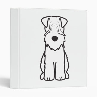 Soft Coated Wheaten Terrier Dog Cartoon 3 Ring Binder