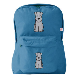 Soft Coated Wheaten Terrier Dog Cartoon American Apparel™ Backpack
