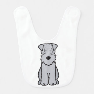 Soft Coated Wheaten Terrier Dog Cartoon Baby Bib