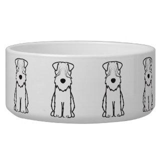 Soft Coated Wheaten Terrier Dog Cartoon Bowl