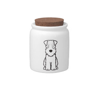 Soft Coated Wheaten Terrier Dog Cartoon Candy Dishes