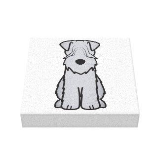 Soft Coated Wheaten Terrier Dog Cartoon Canvas Print