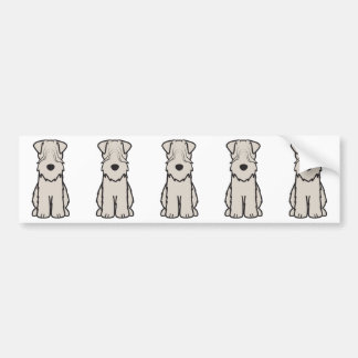 Soft Coated Wheaten Terrier Dog Cartoon Car Bumper Sticker