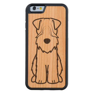 Soft Coated Wheaten Terrier Dog Cartoon Carved Cherry iPhone 6 Bumper Case