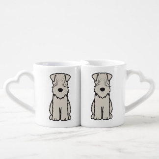 Soft Coated Wheaten Terrier Dog Cartoon Coffee Mug Set