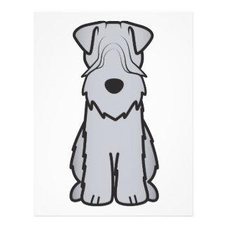 Soft Coated Wheaten Terrier Dog Cartoon Flyer