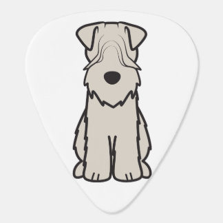 Soft Coated Wheaten Terrier Dog Cartoon Guitar Pick