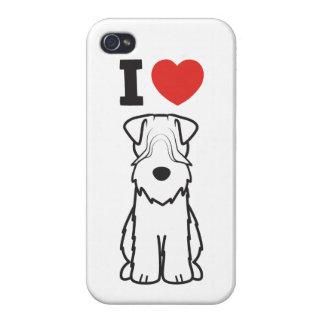 Soft Coated Wheaten Terrier Dog Cartoon iPhone 4 Case