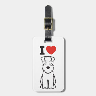 Soft Coated Wheaten Terrier Dog Cartoon Luggage Tag