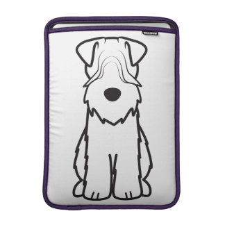 Soft Coated Wheaten Terrier Dog Cartoon MacBook Sleeve
