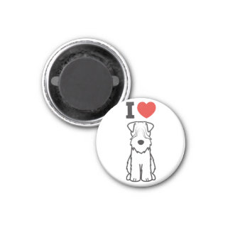 Soft Coated Wheaten Terrier Dog Cartoon Magnet