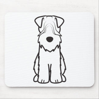 Soft Coated Wheaten Terrier Dog Cartoon Mouse Pad