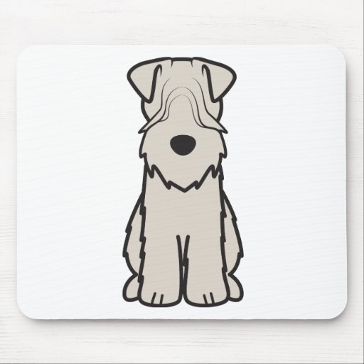 Soft Coated Wheaten Terrier Dog Cartoon Mouse Pads