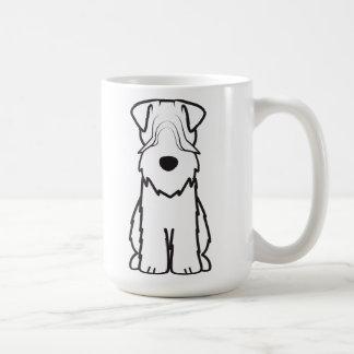 Soft Coated Wheaten Terrier Dog Cartoon Classic White Coffee Mug