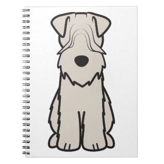 Soft Coated Wheaten Terrier Dog Cartoon Notebook