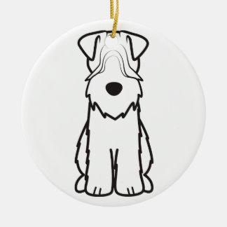 Soft Coated Wheaten Terrier Dog Cartoon Christmas Ornaments