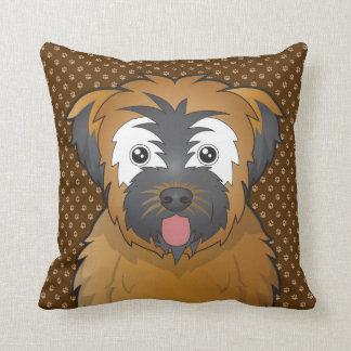 Soft Coated Wheaten Terrier Dog Cartoon Paws Pillow