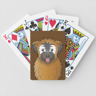 Soft Coated Wheaten Terrier Dog Cartoon Paws Poker Cards