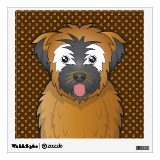 Soft Coated Wheaten Terrier Dog Cartoon Paws Wall Sticker