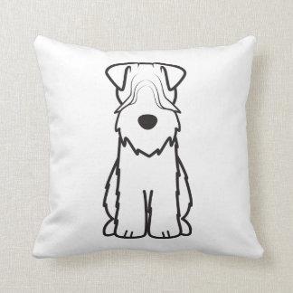 Soft Coated Wheaten Terrier Dog Cartoon Pillows
