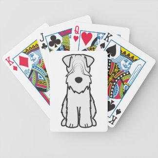 Soft Coated Wheaten Terrier Dog Cartoon Bicycle Card Decks
