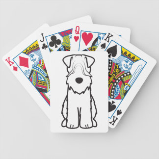 Soft Coated Wheaten Terrier Dog Cartoon Bicycle Poker Deck