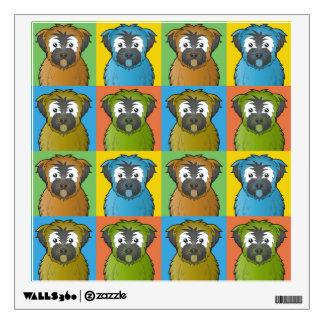 Soft Coated Wheaten Terrier Dog Cartoon Pop-Art Wall Sticker