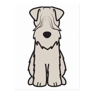 Soft Coated Wheaten Terrier Dog Cartoon Postcard