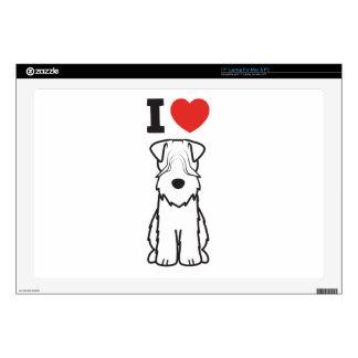 "Soft Coated Wheaten Terrier Dog Cartoon Skins For 17"" Laptops"