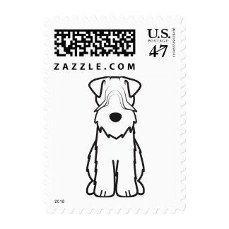 Soft Coated Wheaten Terrier Dog Cartoon Stamp
