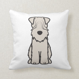 Soft Coated Wheaten Terrier Dog Cartoon Throw Pillow