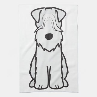 Soft Coated Wheaten Terrier Dog Cartoon Towel