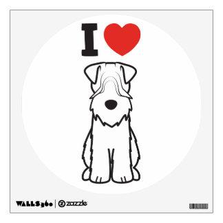 Soft Coated Wheaten Terrier Dog Cartoon Wall Decal