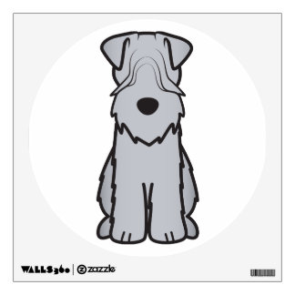 Soft Coated Wheaten Terrier Dog Cartoon Wall Sticker