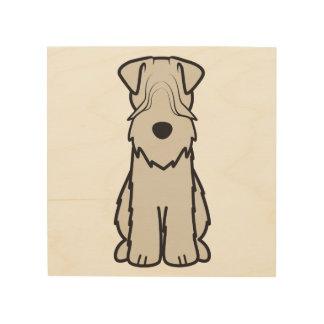 Soft Coated Wheaten Terrier Dog Cartoon Wood Print