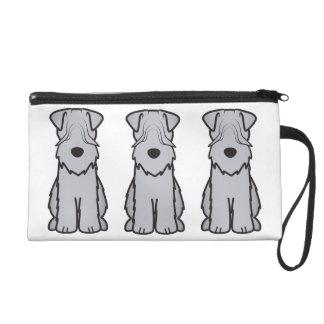 Soft Coated Wheaten Terrier Dog Cartoon Wristlet Purse