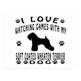Soft Coated Wheaten Terrier Dog Design Postcard