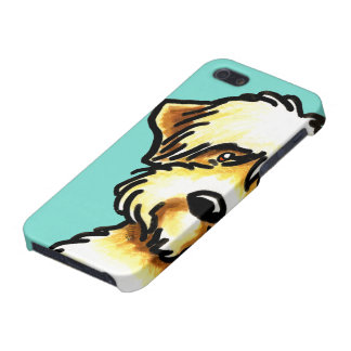 Soft Coated Wheaten Terrier Face Aqua Cover For iPhone SE/5/5s