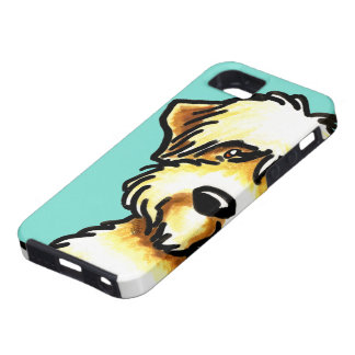 Soft Coated Wheaten Terrier Face Aqua iPhone SE/5/5s Case