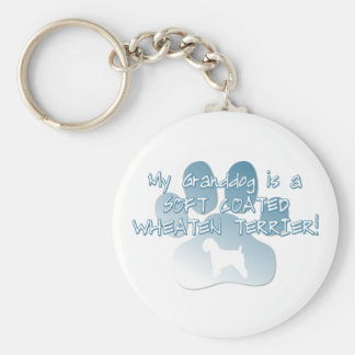Soft Coated Wheaten Terrier Granddog Keychain