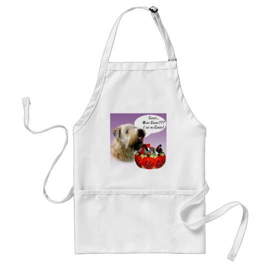 Soft Coated Wheaten Terrier Halloween Candy Adult Apron
